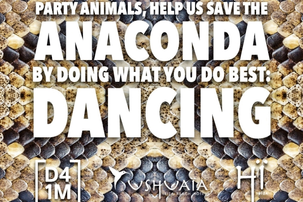 ushuaia hi ibiza dance for one meter rainforest deforestation