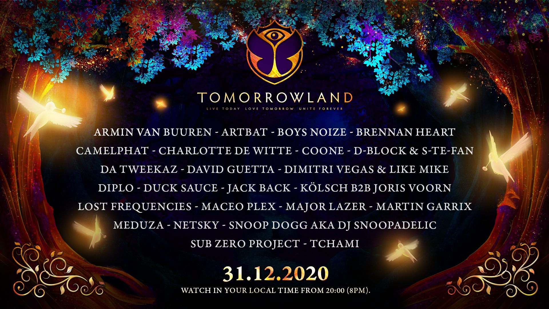 Tomorrowland Announce Magical New Year's Eve Celebration