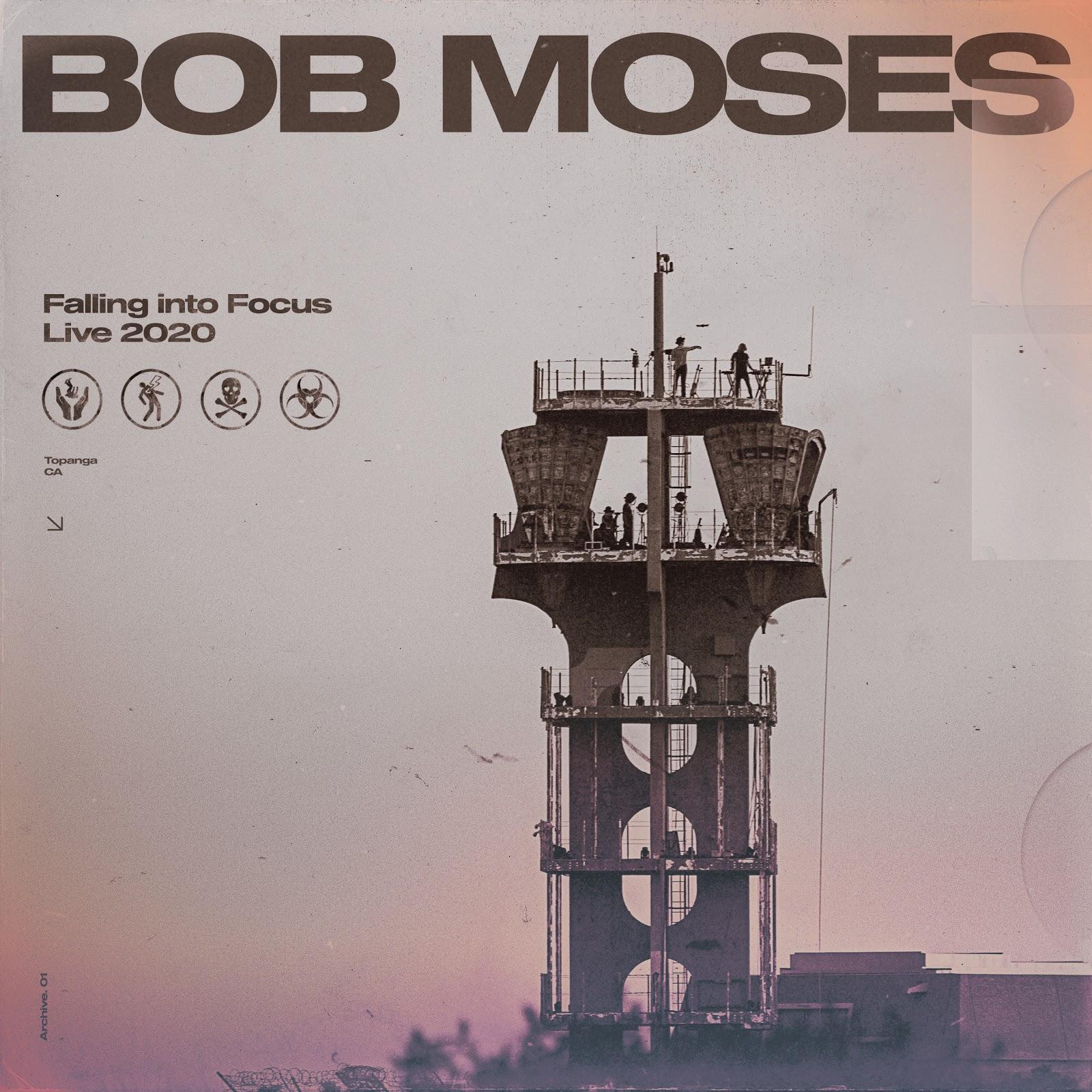 BOB MOSES – FALLING INTO FOCUS – LIVE 2020 – ALBUM COVER